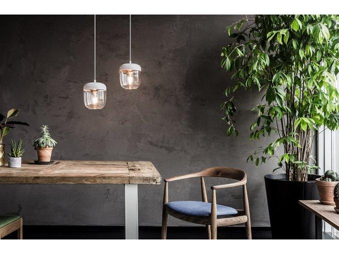 2106 Acorn white polished copper white cord botanical environment