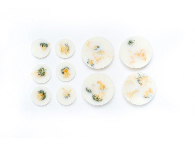Vonná kolečka ze sójového vosku NATURELLA - Měsíček lékařský