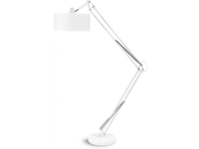 Stojací lampa Milano bílá L