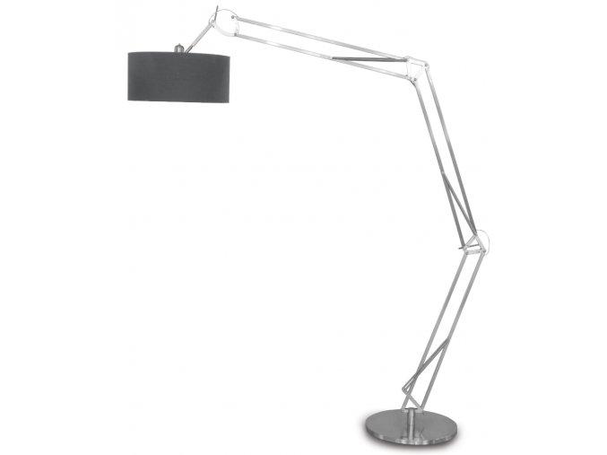 Stojací lampa Milano stříbrná XL 6030