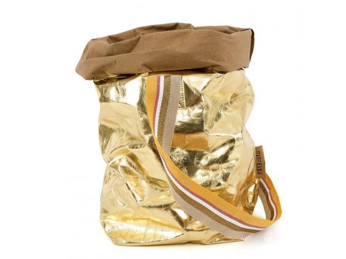 77 laminovana taska carry uashmama s jednim popruhem zlata