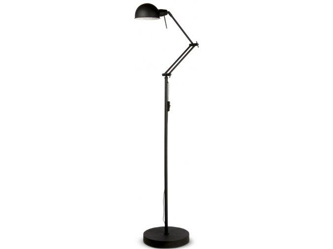 Stojací lampa Glasgow černá