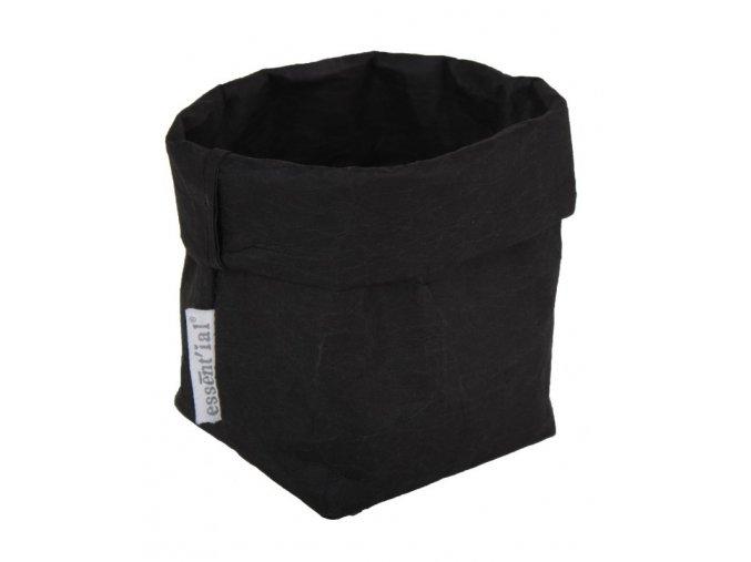 Essential papírový sáček černý (Essent'ial velikosti sáčků S 13x9x10cm)