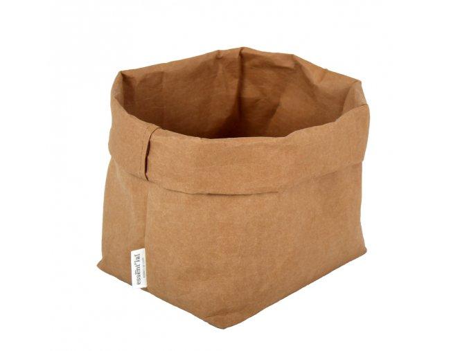 Essential papírový sáček hnědý (Essent'ial velikosti sáčků S 13x9x10cm)