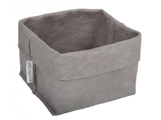 Essential papírový sáček šedý strong (Essent'ial velikosti sáčků STRONG L 28,5x29x27cm)