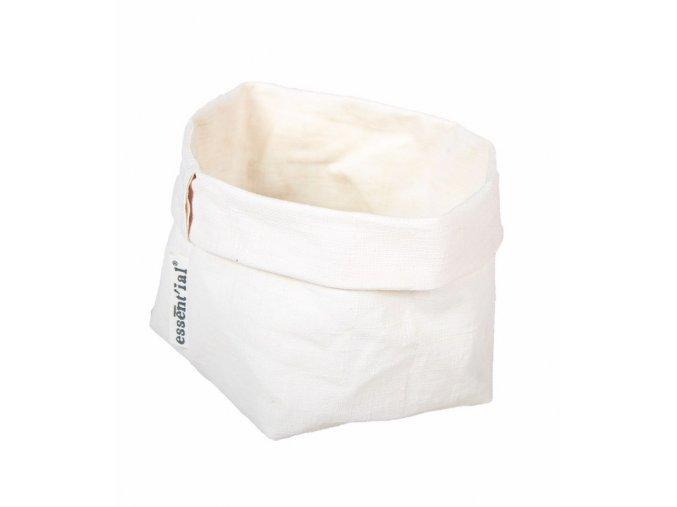ESSENTIAL Papírový sáček bílé plátno (Essent'ial velikosti sáčků L 14x14x23/15cm)