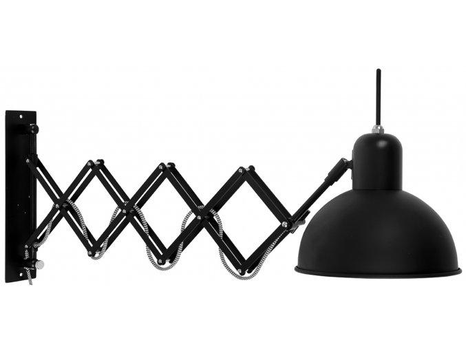 Nástěnná lampa Aberdeen černá