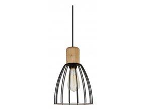 Stropní lampa Cage světlé dřevo