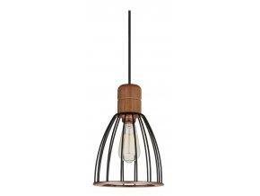 Stropní lampa Cage tmavé dřevo