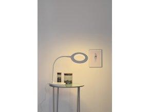 Stolní lampa Circle bílá