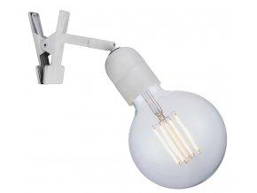 Lampa Elegance Clip-on bílá