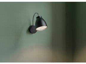Nástěnná lampa Orlando flex černá