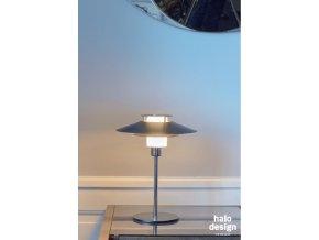 Stolní lampa Rivoli černá, stříbrná