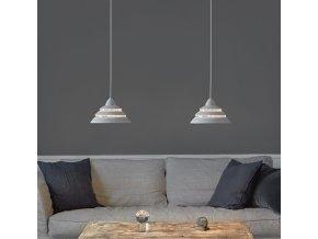 Stropní lampa Shells bílá, stříbrná