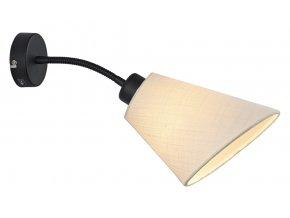 Nástěnná lampa Tower Cut bílá, černá