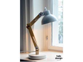 Stolní lampa Woody bílá