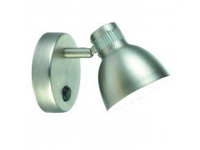 Nástěnná lampa Shadow stříbrná