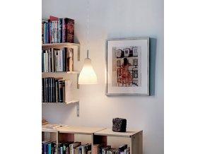 Stropní lampa Ferula bílá