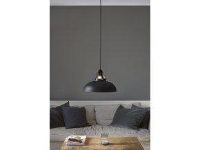 Stropní lampa Stavanger černá