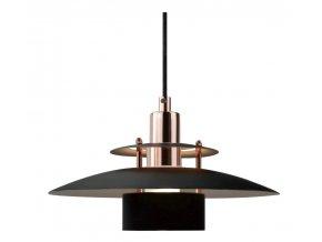 Stropní lampa Sørup černá, měděná