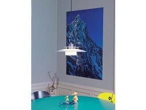 Stropní lampa Sørup bílá, stříbrná