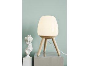 Stolní lampa Happy Tall bílá, světle hnědá