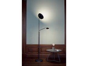 Stojací lampa Vegas Combi černá