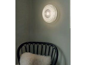 Stropní/nástěnná kruhová lampa Glitter čirá, bílá