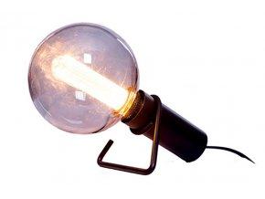 Stolní/nástěnná lampa Hook černá