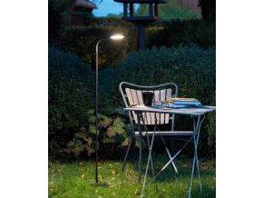 Stojací lampa Read černá