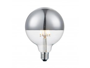 Stmívatelná žárovka Top De Luxe stříbrná 12,5 cm