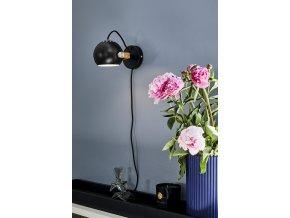 Nástěnná lampa DC černá