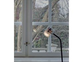 Stojací lampa Delight kouřová, černá