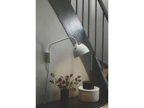 Nástěnná lampa Oslo bílá