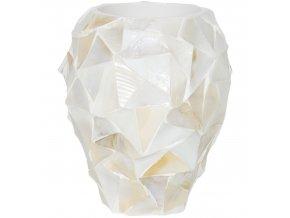 Shell perleťový květináč White