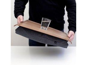 Protiskluzová dřevěná podložka Bosign Walnut & Salt & Pepper Gray