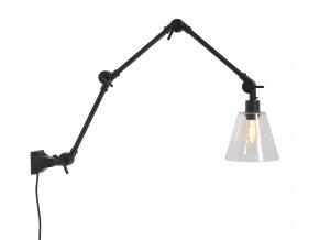 Nástěnná lampa Amsterdam skleněné stínidlo, vel. L