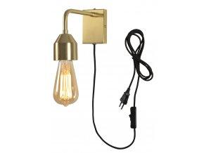Nástěnná lampa Madrid zlatá