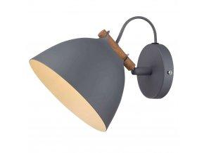 Nástěnná lampa Århus šedá/přírodní