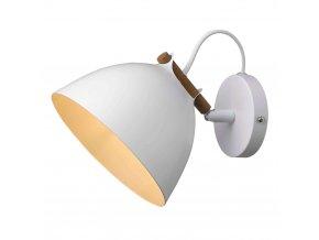 Nástěnná lampa Århus bílá/přírodní