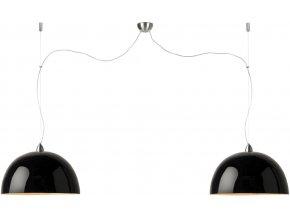 Lampa Halong černá dvojmontáž