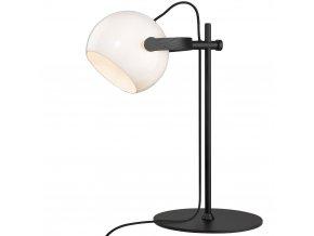 Stolní lampa DC opálové sklo/černá