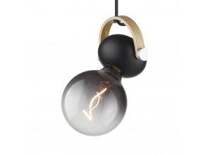 Stropní/nástěnná lampa DC černá/přírodní