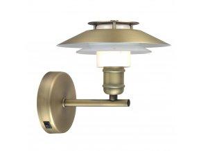 Nástěnná lampa 1123 mosaz