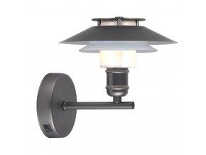 Nástěnná lampa 1123 černá