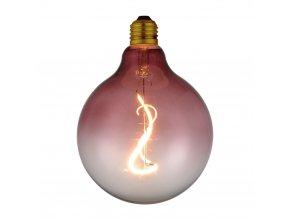 Stmívací žárovka COLORS Soft Light LED G125 růžová