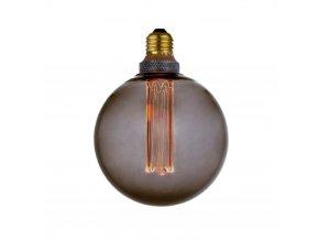 Stmívatelná žárovka Colors Dim LED Globe 12,5 cm kouřová