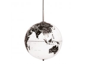 Stropní lampa Globe The World bílá/černá