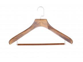 Pánské ramínko na košile s kalhotovou tyčí tmavé Mekko