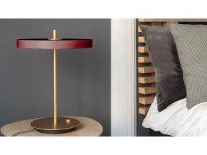 Stolní LED lampa Asteria vínová 2
